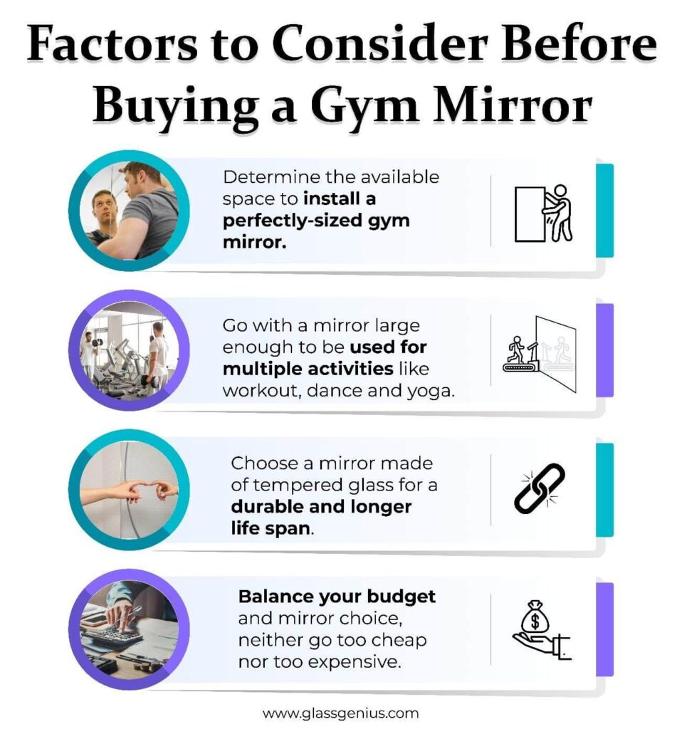 factors to consider before buying a gym mirror